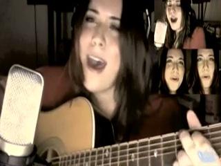 Милая девушка поёт главную тему Skyrim.